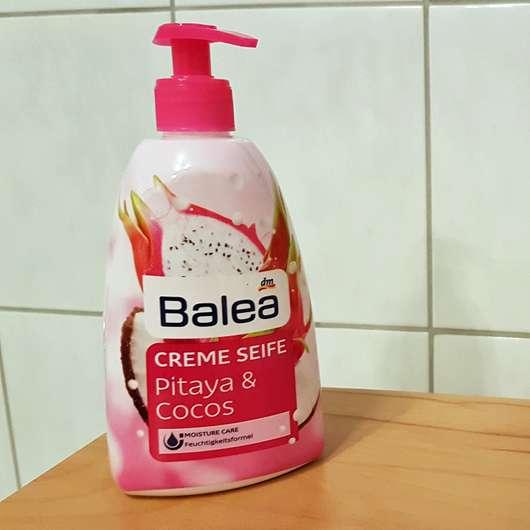 Balea Creme Seife Pitaya & Cocos Flasche und Design