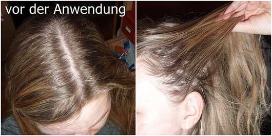 Douglas Hair Tinted Dry Shampoo, Farbe: Blond Hair - Haare vor der Anwendung