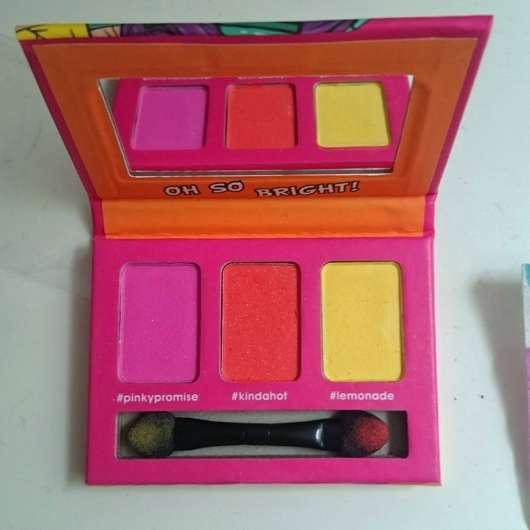 Misslyn Eye-Mazing Eyeshadow Set, Farbe: Oh So Bright! -Verpackung geöffnet