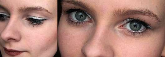 NYX Slide On Pencil, Farbe: Platinum - auf dem Auge aufgetragen