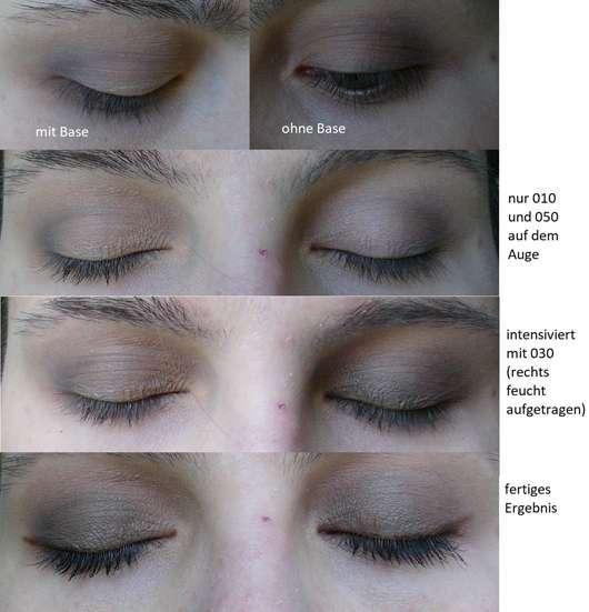 Augen Make-up geschminkt mit Produkten aus der p2 blogger's loveys by designdschungel do-it-yourself palette (LE)