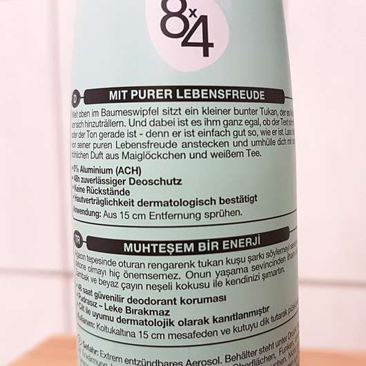 8x4 sing like a toucan Deodorant Spray (LE) - Aufschrift