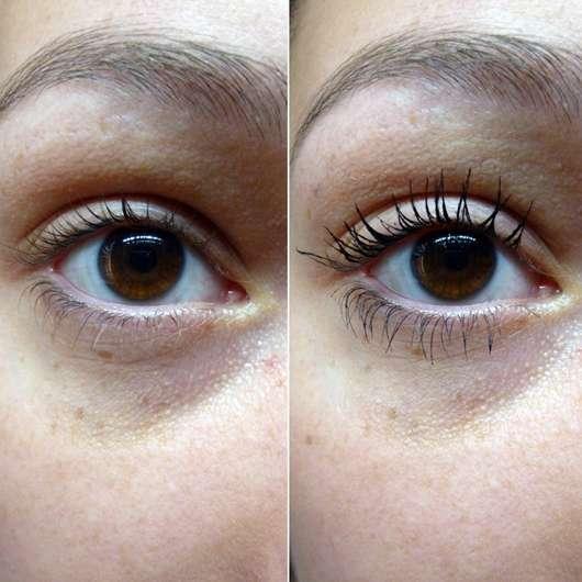 Ergebnis mit der langen Bürste der IsaDora Stretch Lash Mascara, Farbe: 01 Black