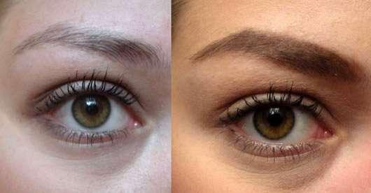 ARTDECO Powder To Cream Brow Color, Farbe: 3 brunette (LE) - Augenbrauchen vor- und nachher