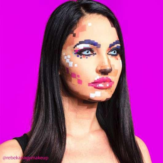 Pixel-Make-up: Diese Kunstwerke sind wirklich geschminkt