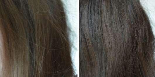 Haare vor/nach Verwendung des Herbal Essences pure:renew Goldenes Moringaöl Shampoos
