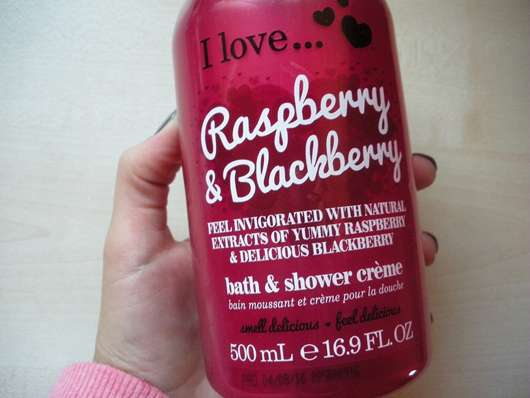 I love... Raspberry & Blackberry Bath & Shower Crème Design