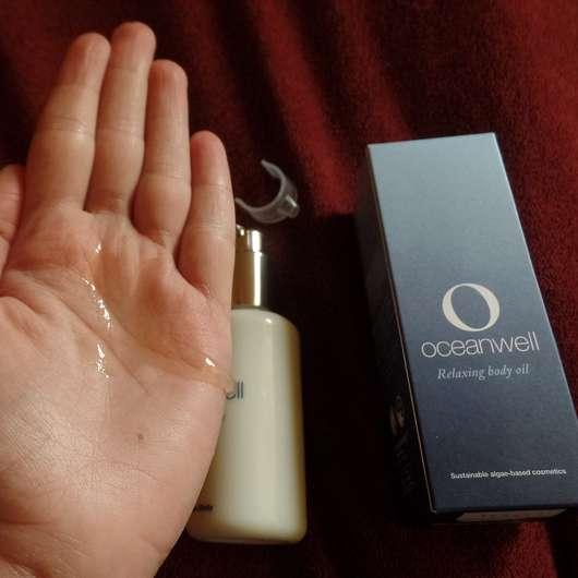 Konsistenz des Oceanwell Relaxing body oils