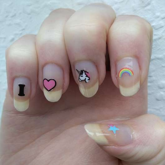 Rival de Loop Young I Love Unicorns Nail Sticker (LE) auf den Nägeln