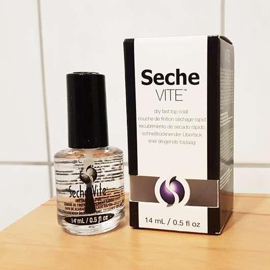 Seche VITE dry fast top coat Flasche und Verpackung