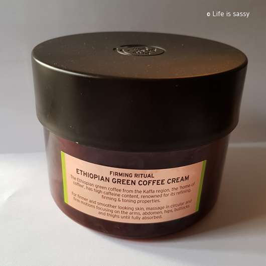 The Body Shop Spa of the World Ethiopian Green Coffee Cream Tiegel