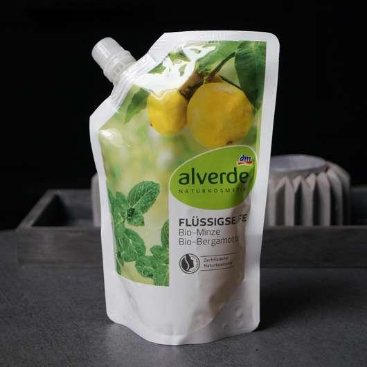 alverde Flüssigseife Bio-Minze Bio Bergamotte (Nachfüllbeutel) Design