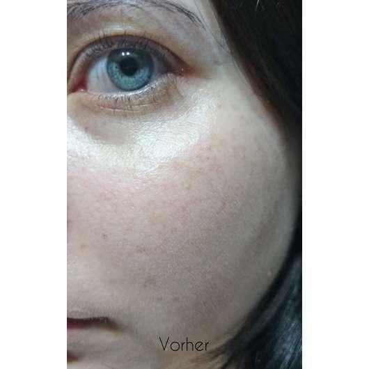 Haut vor dem Test der Douglas Nutri Focus Exfoliating Cream
