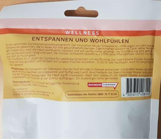 for your Beauty Wellness Konjac-Körperpflegeschwamm (Japanische Kirschblüte) Herstellerangaben