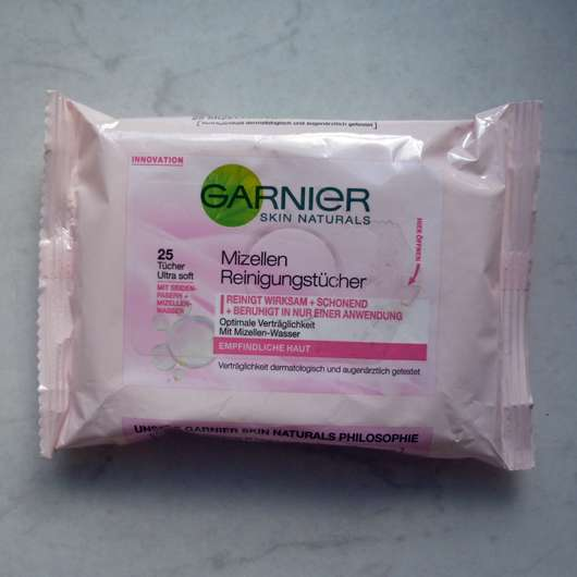 <strong>Garnier Skin Naturals</strong> Mizellen Reinigungstücher (empfindliche Haut)