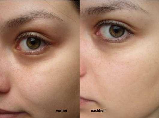 Garnier SkinActive Beruhigende Reinigungsmilch mit Rosenwasser vor und nach der Testphase