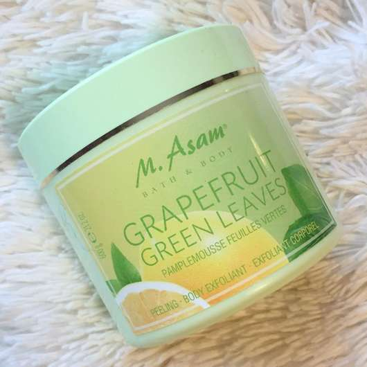 M. Asam Grapefruit Green Leaves Peeling Tiegel und Design