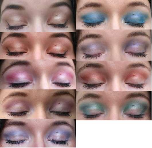 Makeup Revolution Mermaids Forever Ultra Eyeshadows Tragebilder