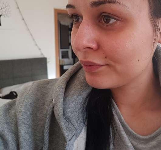 p2 pro beauty prep + fix spray Gesicht vorher
