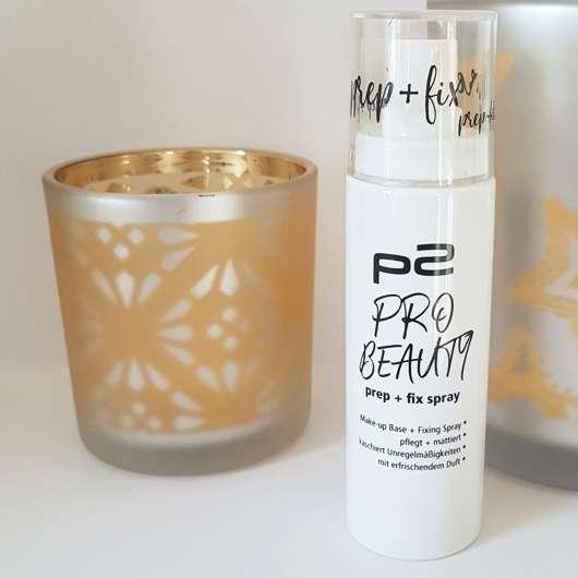 p2 pro beauty prep + fix spray Design