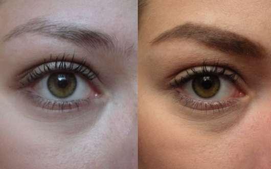 Terra Naturi Augenbrauenstift, Farbe: 03 cashmere Augenbrauen vorher und nachher