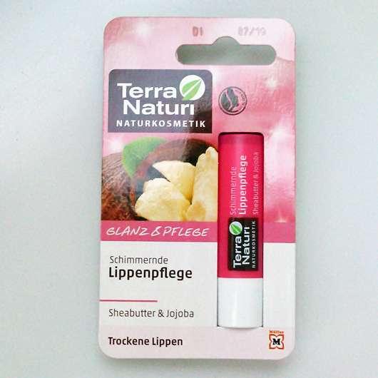 Terra Naturi Schimmernde Lippenpflege Sheabutter & Jojoba Verpackung