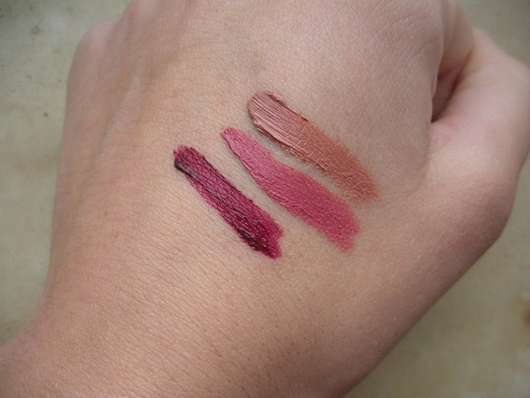 Swatches der The Body Shop x House Of Holland Matte Lip Liquid Collection (LE)