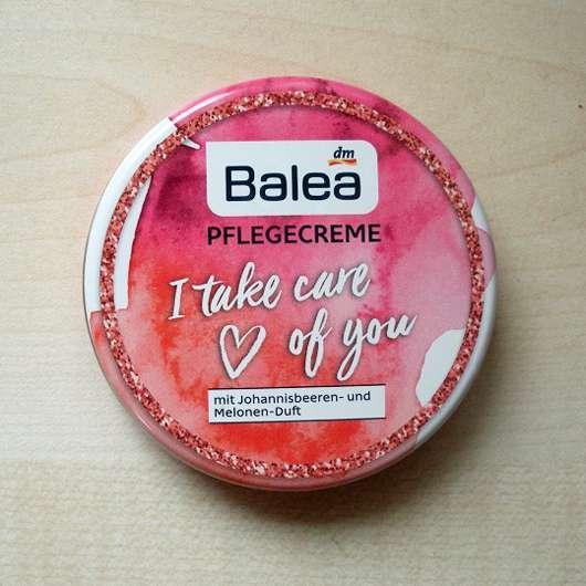 Dose der Balea Pflegecreme I take care of you (mit Johannisbeeren- und Melonen-Duft)