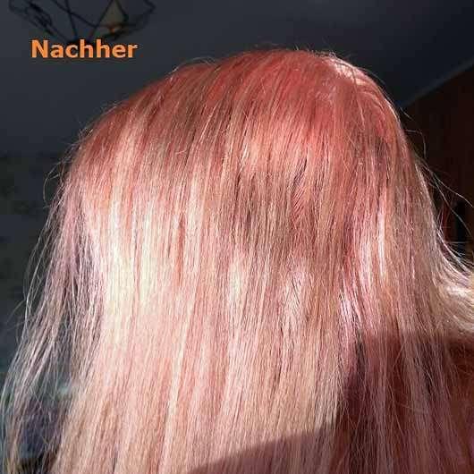 L'Oréal Paris Colovista Washout #Peachhair - getönte Haare nach der Anwendung