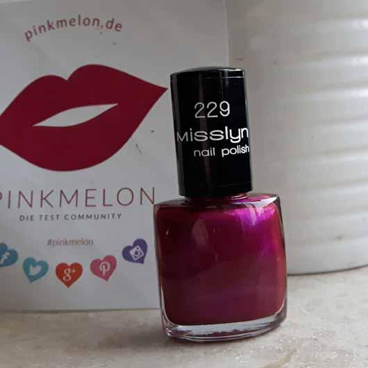 Misslyn nail polish, Farbe: 229 party on - Flakon