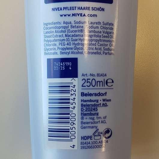 NIVEA Volumen & Kraft Pflegeshampoo Herstellerangaben