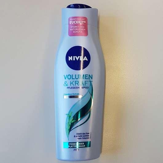 NIVEA Volumen & Kraft Pflegeshampoo Flasche und Design