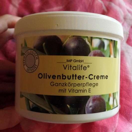 Vitalife Olivenbutter Creme Tiegel und Design