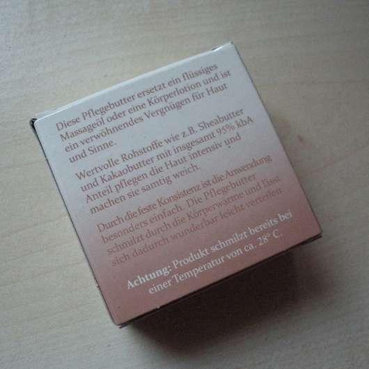 Verpackungsrückseite - CMD Pflegebutter Zitrus Mini (Muschel)