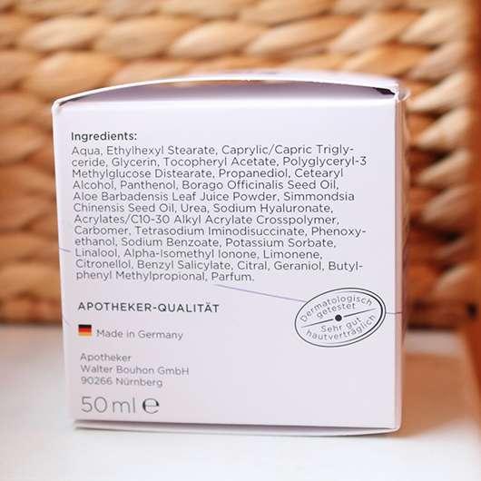 Umverpackung mit Inhaltsstoffen der frei öl Hydrolipid FeuchtigkeitsCreme