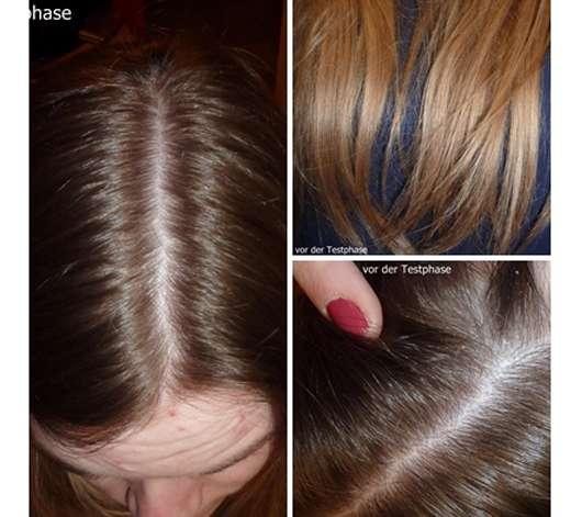 Haare vor der Testphase des Garnier Wahre Schätze Beruhigendes Shampoo Sanfte Hafermilch
