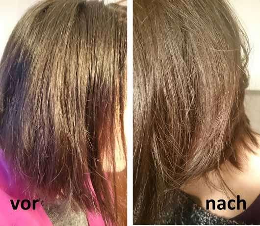 I.C.O.N. Free Moisturizing Conditioner - Haare vor und nach der Anwendung