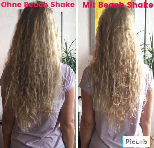 Haare vor/nach Anwendung des JOICO Beach Shake Texturizing Finisher
