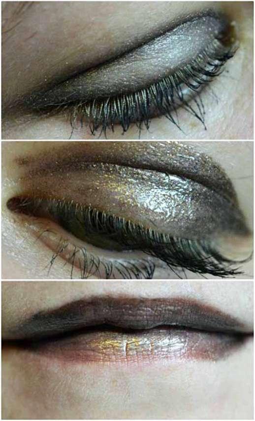 L.O.V EYEttraction Magnetic Loose Eyeshadow, Farbe: 520 Metalight - auf den Augen und auf den Lippen