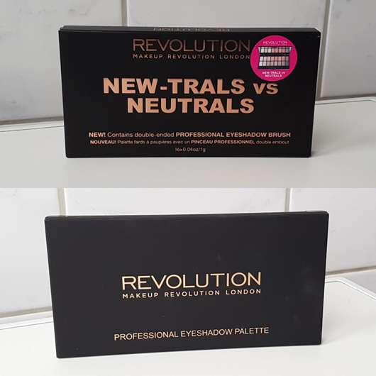 <strong>Makeup Revolution</strong> Professional Eyeshadow Palette - Farbe: New-Trals vs Neutrals