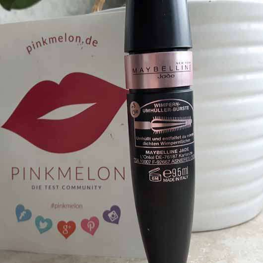 Maybelline Lash Sensational Luxurious Mascara, Farbe: Black - Flakon Rückseite