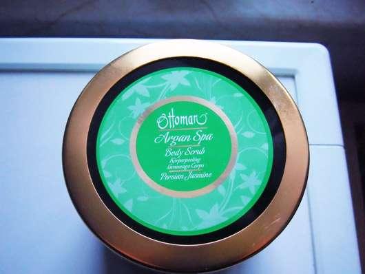 Ottoman Argan Spa Body Scrub Persian Jasmine - Tiegel von oben