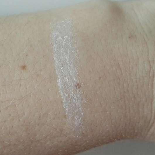 Swatch des p2 4D metallic foil eye shadow, Farbe: 020 glitzy white (LE)
