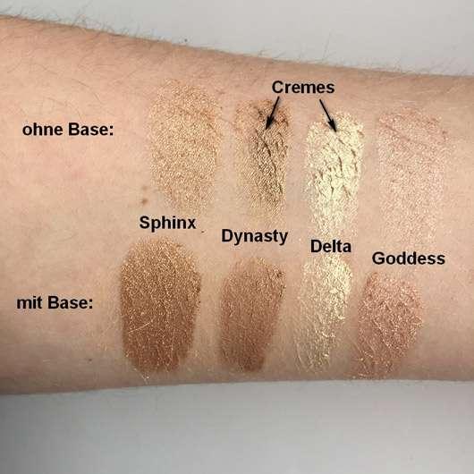 Sleek MakeUp Highlighting Palette, Farbe: 33 Cleopatra's Kiss - Swatches ohne und mit Base