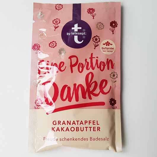 <strong>tetesept</strong> Eine Portion Danke Granatapfel Kakaobutter Freude schenkendes Badesalz