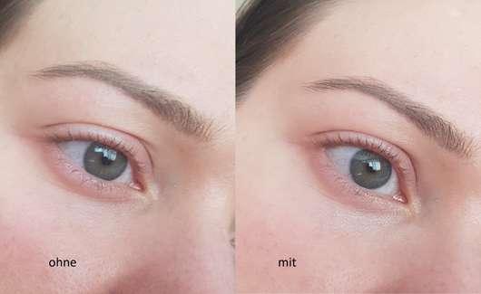 Haut ohne/mit BECCA Cosmetics Under Eye Brightening Corrector, Farbe: Light to Medium