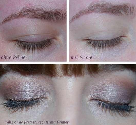 Augen Make-up ohne/mit Kiko Neutral Eye Base