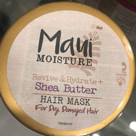 Deckel der Maui Moisture Revive & Hydrate + Shea Butter Hair Mask