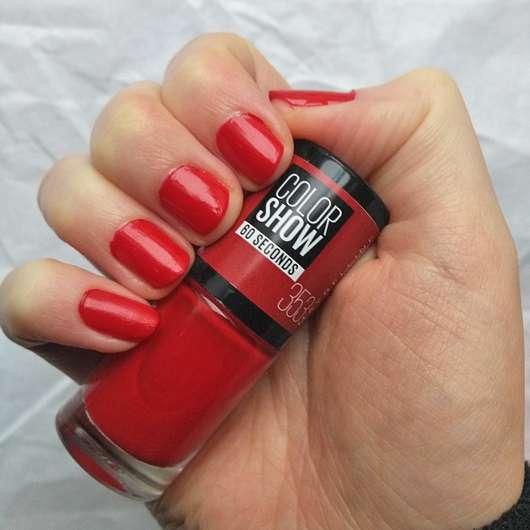 Tragebild des Maybelline Colorshow Nagellack, Farbe: 353 Red