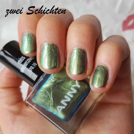 ANNY Nagellack, Farbe: 370.10 miss undercover (LE) - Zwei Schichten Lack auf den Nägeln